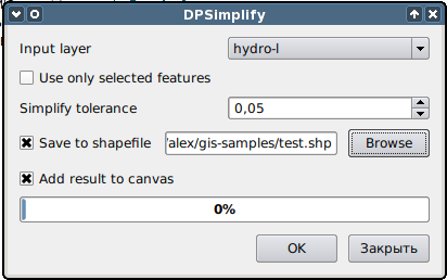 Line simplification with DPSimplify for QGIS — GIS-Lab