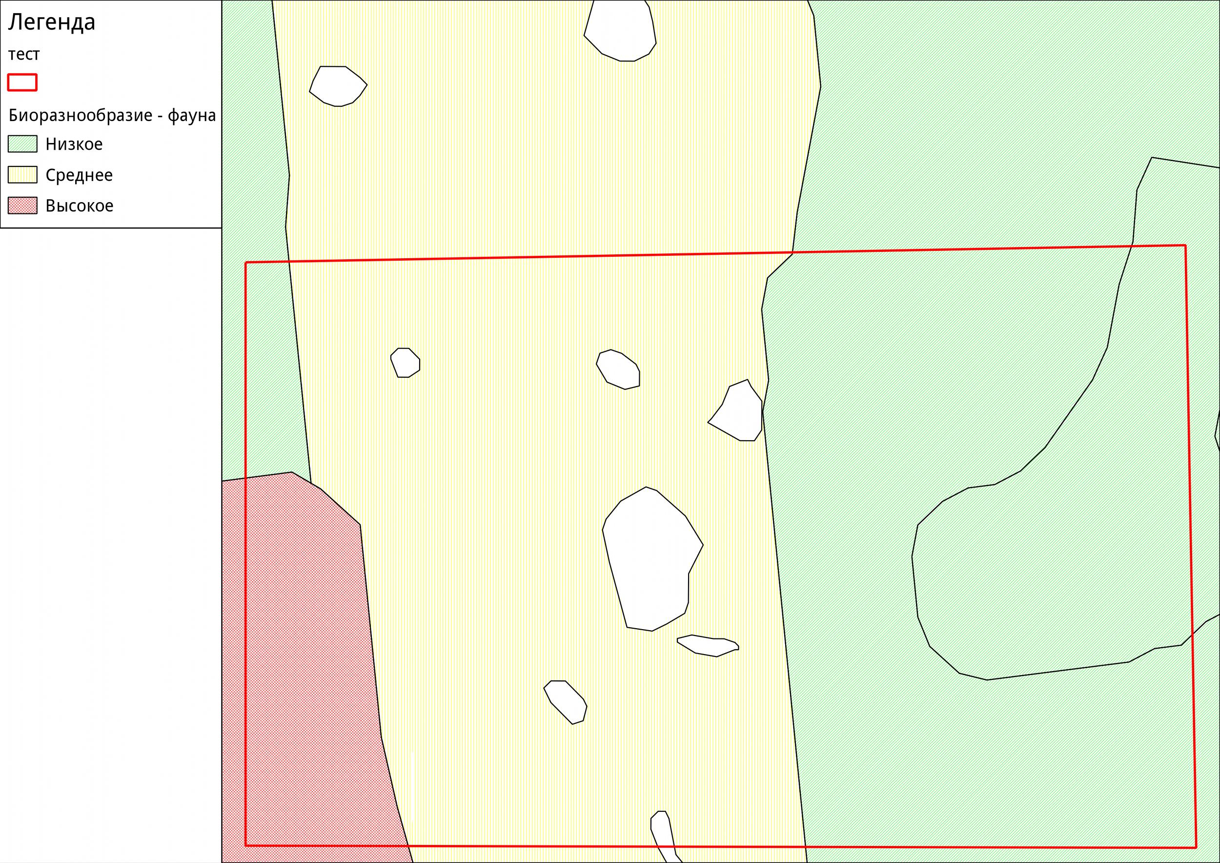 Пример тематической карты