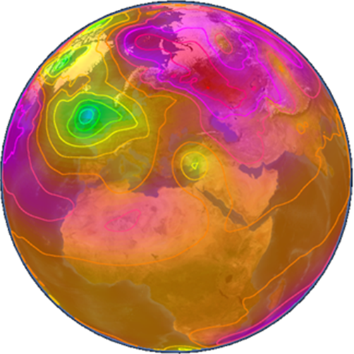 Wikience-mean-sea-level-pressure-and-isobars.png