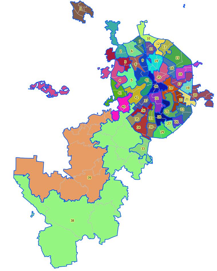 Стала известна схема одномандатных избирательных округов на.